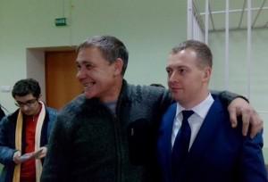 Евгений Витишко и адвокат Сергей Локтев.