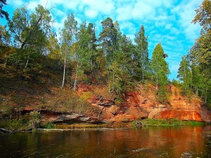 Геологические обнажения в п.Сиверский
