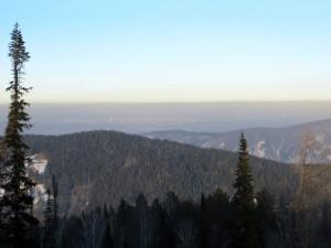 black sky Krasnoyarsk