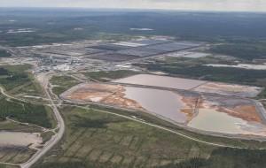 Территория рудника Талвиваары с высоты.