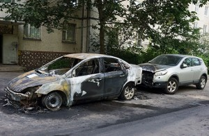 Zhukovskiy burned car Mikhail Yuritsin Ford Focus