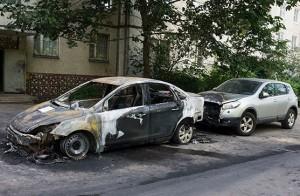 Zhukovskiy burned car Mikhail Yuritsin Ford Focus