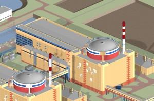 Эскиз 4-го энергоблока Ростовской АЭС.