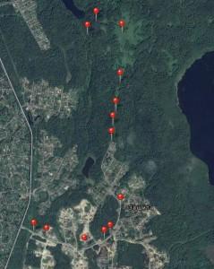 Atamanchuk Sergey road Toksovo map
