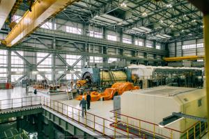 Общий вид машзала с генератором 6-го энергоблока НВ АЭС  (16 ноября 2016 г.).