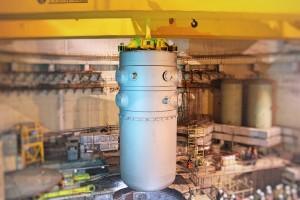 Установка корпуса реактора 1го энергоблока Белорусской АЭС