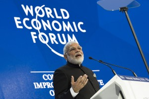 Narendra Modi, Prime Minister of India during the Opening Plenary at the Annual Meeting 2018