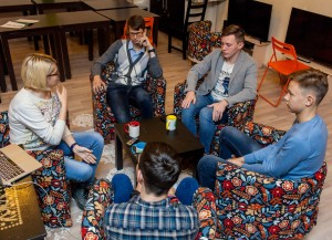 Победители Школы молодого энергетика Олег Богай, Евгений Соснин, Андрей Кочетков и Кирилл Сысоев.