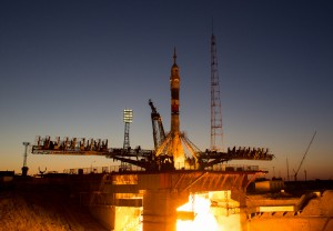 Baikonur rocket launch