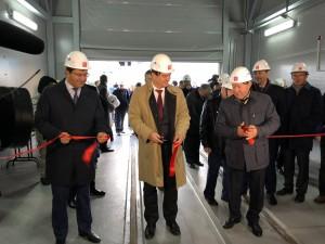 Торжественное открытие здание Укрытия для выгрузки ОЯТ из ПТБ «Лепсе», сентябрь 2018 года.