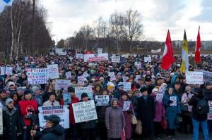 Митинг в Северодвинске против полигона ТБО на станции Шиес.