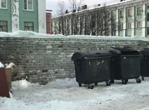 Murmansk waste dump trash