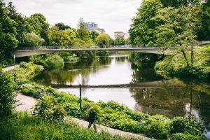 Park nahe der Innenstadt Hamburg
