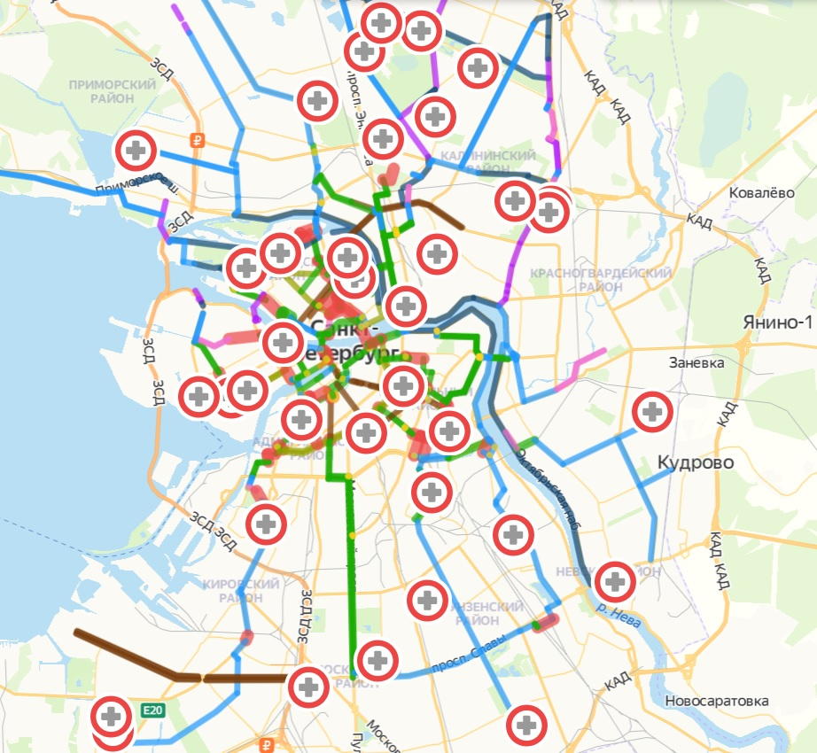 yandex map bycicles