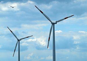 wind power wind farm snow