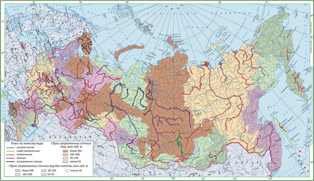 water pollution in Russia map