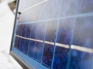 solar panel solar power snow