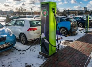 Electric cars charging in Minsk