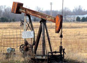 abandoned oil pump