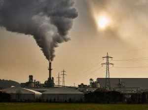 Industrial pipe air pollution