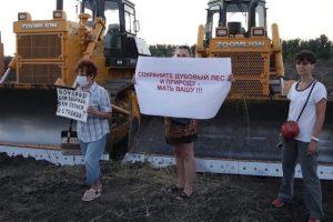 """Протесты против строительства трассы. Фото: группа """"Волго-Ахтубинская пойма"""" в ВК"""